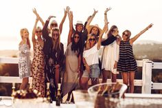 Crew, Girls, bloggerbazaaribiza, Ibiza, Sundowner, Moët & Chandon, Fashion, Sunset, Moet Sunset, Asos, Blogger, Blogger Bazaar