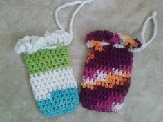 Crochet soap saver holder and loofah Made to by KnottyFashions, $5.00