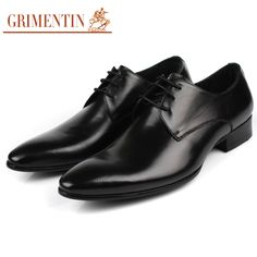 Cheap Men's Flats, Buy Directly from China Suppliers:                         GRIMENTIN fashion Italian luxury brand classic formal mens dress shoes genuine leather black br