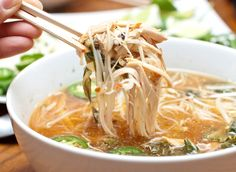 Love Chicken Pho? Did you know you can make it at home in your Crock Pot? Homemade Chicken Pho is easier than you may think!