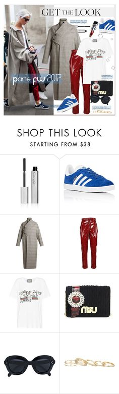 """Get the Look"" by stylemeup-649 ❤ liked on Polyvore featuring Kjaer Weis, adidas, STELLA McCARTNEY, MSGM, Gucci, Miu Miu, CÉLINE and Kendra Scott"