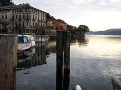 Early morning lago d'Orta Italy