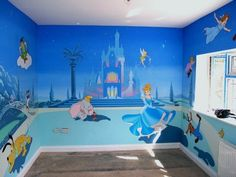 I would have loved this room soooo much! I probably still would...if I was artistic I would totally do this for my kids one day