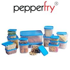 All Time Polka 17 Pcs Blue Container Set Blue at Rs.299 Free Shipping – Pepperfry