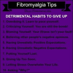 """10 Things to Stop Doing to Yourself"" Living Better with Fibromyalgia and Chronic Fatigue Syndrome"