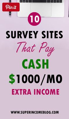 10 Best Paid Online Surveys Websites To Make Extra Money From Home Best Paid Online Surveys, Get Paid Online, Make Real Money Online, Paid Surveys, Earn Money From Home, Online Earning, Earn Money Online, How To Get Money, Money Fast