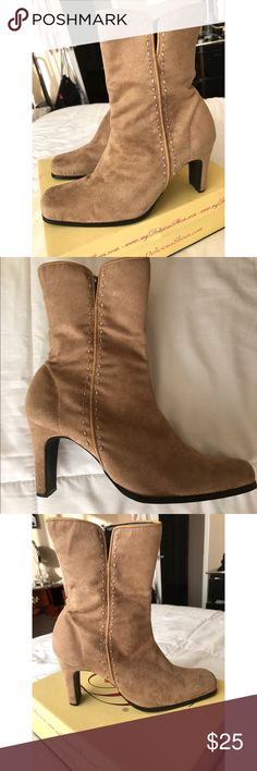 Tan Suede Boots Never Worn super cute suede boots for Fall/Winter & super trendy! Great Condition & Ready to Wear! Shoes Ankle Boots & Booties