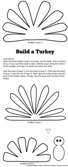 build a turkey craft free printable template printable turkey template november crafts turkey craft