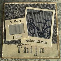 gemaakt door Marielle # Marianne Design racefiets LR0394 voor Thijn