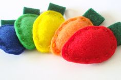Christmas Felt Ornaments Made to Order Old Fashioned Christmas Lights Holidays. $12.00, via Etsy.
