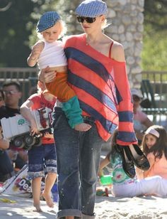 Gwen Stefani and her son rock the newsboy caps