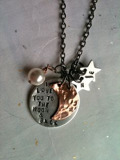 I Love You To The Moon & StarsNew and by DarkChocolateNTulips, $42.00