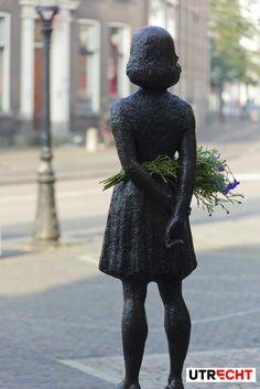 Anne Frank statue at Janskerkhof. #Utrecht