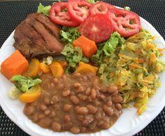 Almocinho é aquele colorido maravilhoso de sempre 💚❤️💛