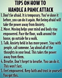 Tips on how to handle a #panicattack