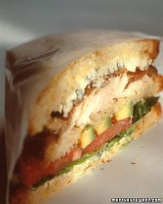Chicken Cobb Club Sandwich _ You'll need both hands to grab hold of this double-decker sandwich.