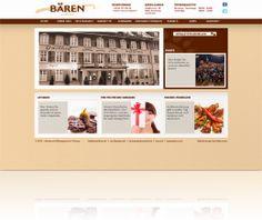 Neue Webseite vom Restaurant Bären in Aarau mit Online-Marketing, CMS, Social-Media, Newsletter und Gutscheinshop