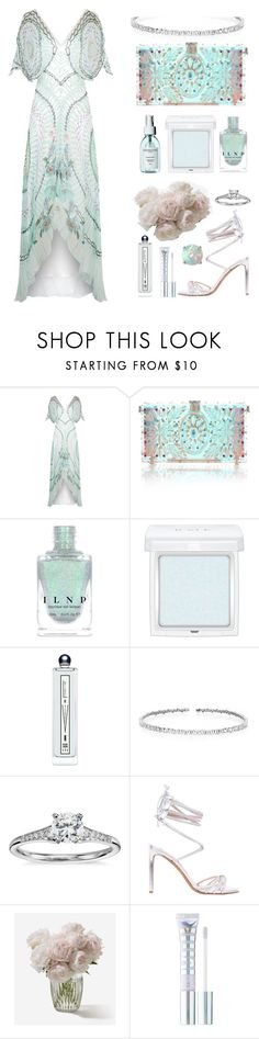 """translucent soul"" by moneanemone ❤ liked on Polyvore featuring Temperley London, Dolce&Gabbana, RMK, Serge Lutens, Suzanne Kalan, Blue Nile, Alexandre Vauthier, MILK MAKEUP, Glitzy Rocks and summerwedding"
