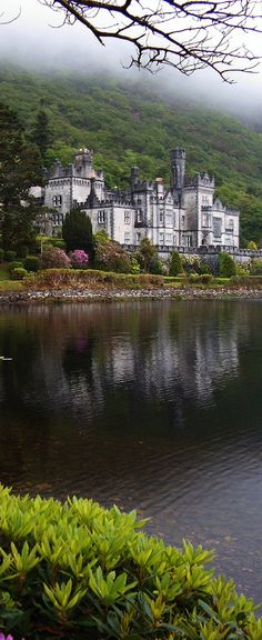 Kylemore Castle, County Galway, Ireland  My first love,... The beautiful Ireland