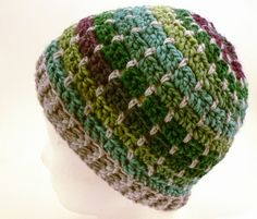 crochet hat, free pattern and tutorial in german.