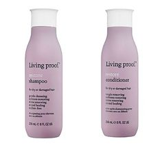 Living Proof Restore Shampoo and Conditioner Best Salon Shampoo, Good Shampoo And Conditioner, Dry Shampoo, Hair Shampoo, Natural Shampoo, Natural Hair, Organic Shampoo, Au Natural, Coarse Hair