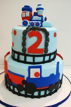 """""""Thomas The Train"""" Birthday cake Thomas The Train Birthday Party, 2nd Birthday Boys, Second Birthday Ideas, Trains Birthday Party, Birthday Party Themes, Birthday Cake, Train Cakes, Thomas Cakes, Cupcake Cakes"""