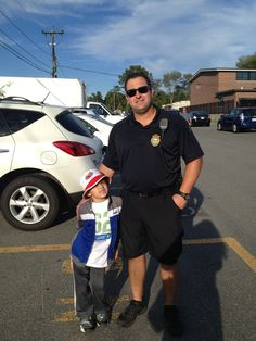 Zachy & Officer from NA Police Dept.