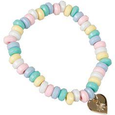 web heart candy braclete