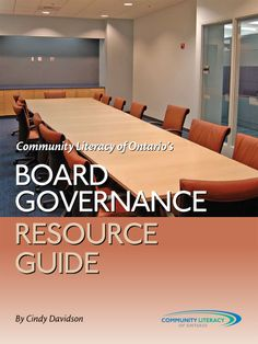 Board Governance Resource Guide for Nonprofit Organizations http://www.amazon.com/Board-Governance-Resource-Nonprofit-Organizations-ebook/dp/B00AXN7WYG