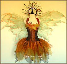 Adult Fairy Costume - The COPPER ACORN Faerie - Woodland Fairy -  corset size 34 bust