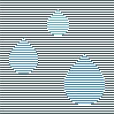 Such a sweet cross stitch pattern! Minimalist rain drops by CrossStitchtheLine