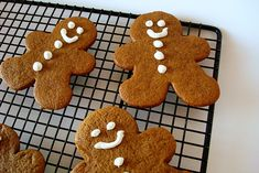 Thick and Chewy Gingerbread Cookies - a great way to change-up sugar cookies for the holidays. These are delicious!