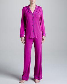 Cosabella - Bella Piped Solid Pajamas, Jelly/Sweet Grape