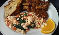 This Tofu Scramble with Healthy Spinach Really Gets You Going