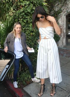 SHOP the look: Where to Get Kendall Jenner's Striped Crop Top and Culottes | StyleCaster
