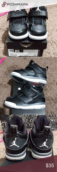 sports shoes 9e460 a2f7c Jordan Flight 45 bt baby size 5c Super cute almost new black little  Jordsns. Purchased