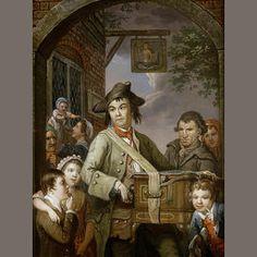 John Collet (London circa 1725-1780) The Hurdy Gurdy Player