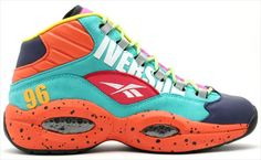 More information about Reebok Question shoes including release dates, Question Mid is used to celebrate the legend that is Allen Iverson.