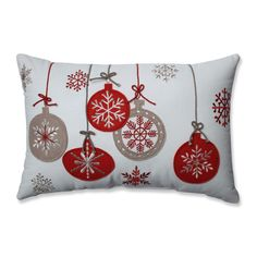 Pillow Perfect Country Home Ornaments Red/ Rectangular Throw Pillow