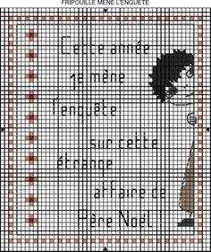 noël - christmas - enquête - point de croix - cross stitch - Blog : http://broderiemimie44.canalblog.com/