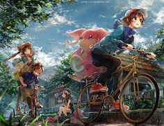 Route 3 by =Namie-kun on deviantART // This is just beautiful.