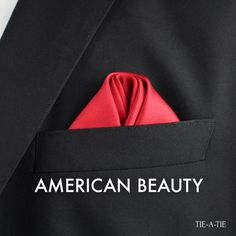 American Beauty pocket square fold