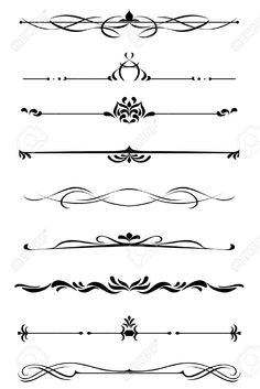 19560785-Dividers-and-borders-set-in-medieval-style-Stock-Vector-decorative-border-vintage.jpg (867×1300)