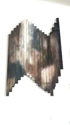 Wood strip painting
