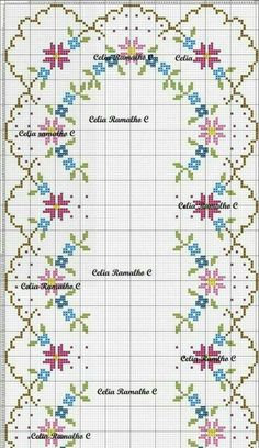 This Pin was discovered by Sev Cross Stitch Borders, Cross Stitch Alphabet, Cross Stitch Flowers, Counted Cross Stitch Patterns, Cross Stitch Charts, Cross Stitching, Cross Stitch Embroidery, Hand Embroidery, Pixel Crochet