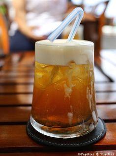 Thé glacé au lait de coco #Maldives
