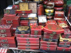 Antique Chinese boxes from Suzhou