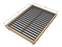 Plans for PBTeen style platform bed Diy Bed Frame Plans, Full Bed Frame, King Bed Frame, Bed Plans, Table Plans, Used Woodworking Tools, Woodworking Plans, Woodworking Videos, Woodworking Projects