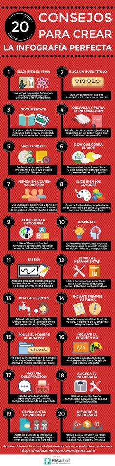 20 tips o consejos para crear una infografía perfecta que haga más llamativos y comprensivos tus artículos y te ayuda a posicionar tu blog.
