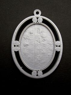 3 Handmade Fairytale Silver Cameo Settings 40x30mm by Untimed, $4.50